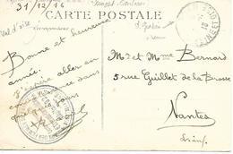 95-cachet Hôpital Aux. N°192 à Eaubonne- Centre Chirurgical -sur CP En 1916 - WW I