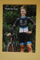 CYCLISME: CYCLISTE : THALITA DE JONG - Cyclisme