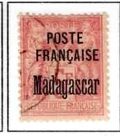 Ex Colonies Françaises Madagascar Poste 22 Qualité Oblitéré - Oblitérés