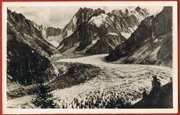 CPSM 74- CHAMONIX - La Mer De Glace Vue De MONTENVERS -voyagée 1948 Flamme Et Timbre-Recto Verso-Paypal Sans Frais - Saint Jean De Monts