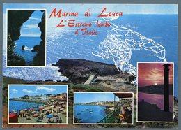 °°° Cartolina - Marina Di Leuca Vedute Viaggiata °°° - Lecce