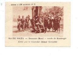 Chromo AOF Haute Volta Danseurs MOSSI Koudougou TB 75 X 50 Mm Pub: Chocolat Cémoi Au Dos Colonies Françaises - Chocolat