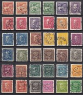 SE085 – SUEDE – SWEDEN – 1921 – CURRENT FULL SET Without WM - MI # 174IIWA/207IWA USED 30 € - Used Stamps
