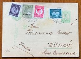 ROMANIA  -  CARTOLINA POSTALE  - FROM CLUJ-NAPOCA 14/9/34 To MILANO UTALY - Storia Postale Seconda Guerra Mondiale