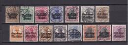 Deutsche Post In Polen - 1915/17 - Michel Nr. 1/5+6/7+9/16 - Gest. - Besetzungen 1914-18