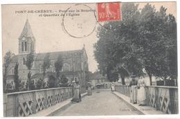 CPA 38 : PONT-DE-CHERUY - Pont Sur La Bourbre Et Quartier De L'Eglise - Ed. Vialatte à Oyonnax - - Pont-de-Chéruy