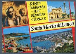 °°° Cartolina - Marina Di Leuca Santa Maria De Finibus Terrae Vedute Viaggiata °°° - Lecce