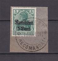 Militärverwaltung In Rumänien - 1918 - Michel Nr. 8 - BPP Geprüft - Gest. - Besetzungen 1914-18