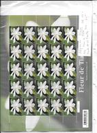 POLYNESIE N° 1076 FLEUR DE TIARE FEUILLE DE 25 TIMBRES - Autres
