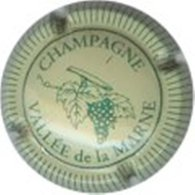 """Plaque De Muselet De Champagne """"VALLEE De La MARNE""""  Crème Et Vert N° Lambert 01 - Vallée De La Marne"""