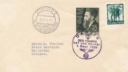 Deutsches Reich / Danzig - 1939 - 25Pf  Krebs Ist Heilbar / Der Fuhrer Hat Uns Befreit / Zoppot Das Weltbad, Cover To NL - Briefe U. Dokumente