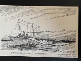 3 Canonnières. La Marine Française. Ligue Maritime Française - Krieg