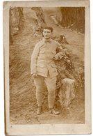 PORTRAIT D UN SOLDAT  SUR LE COL N° 14  BEAU PLAN     CARTE PHOTO - Personaggi