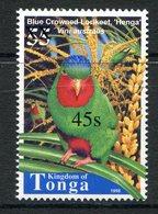 Tonga 2002-04 Surcharges - 45s On 55s Blue-crowned Lorikeet MNH (SG 1546) - Tonga (1970-...)