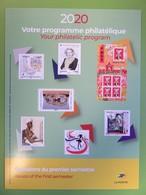 Calendrier Programme Philatélique 2020 - Emissions Du Premier Semestre - Phil@poste - Guerlain - Documenten Van De Post