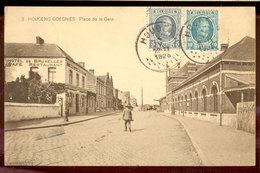 Cpa Houdeng Goegnies  Gare  1925 - La Louvière