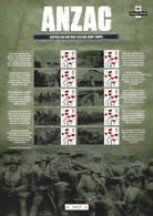 Gran Bretagna, 2016 CS32 Le Truppe Anzac Nella I Guerra Mondiale, Smiler, Con Custodia, Perfetto - Personalisierte Briefmarken