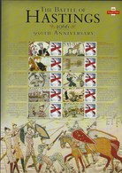 Gran Bretagna, 2016 CS33 950° Ann. Della Battaglia Di Hastings, Smiler, Con Custodia, Perfetto - Personalisierte Briefmarken