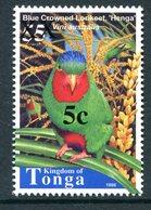 Tonga 2002-04 Surcharges - 5c On 55s Blue-crowned Lorikeet MNH (SG 1568) - Tonga (1970-...)