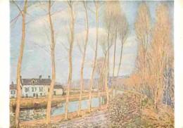 Art - Peinture - Alfred Sisley - Le Canal Du Loing - Carte Neuve - Voir Scans Recto-Verso - Paintings