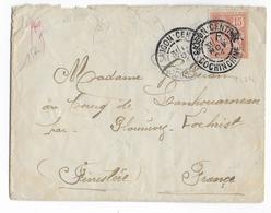 1904 - MOUCHON SURCHARGE FM Sur ENVELOPPE De SAÏGON (INDOCHINE) => FINISTERE - Indochina (1889-1945)