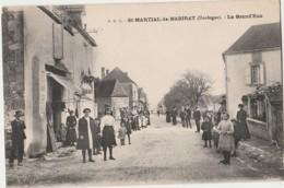 T18-24) SAINT MARTIAL DE NABIRAT (DORDOGNE) LA GRAND RUE  - (TRES ANIMEE - 2 SCANS) - France