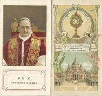 Santino Doppio Pio XI Ricordo Congresso Eucaristico 1922 (804) - Images Religieuses