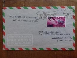 REPUBBLICA - Volo Speciale Presidente Gronchi Negli U.S.A. + Spese Postali - Poste Aérienne