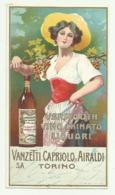 VERMOUTH VINO CHINATO VANZETTI & AIRALDI TORINO CM.15X8,5 - Alcools