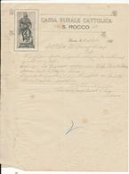 1931 SIANO CASSA RURALE CATTOLICA SAN ROCCO - Vieux Papiers