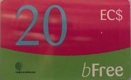 St. VINCENT § LES GRENADINES  -  Prepaid -  Cable %  Wireless  -  EC$20 - St. Vincent & The Grenadines
