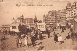 Ostende - La Plage Vue L'après-midi - Oostende