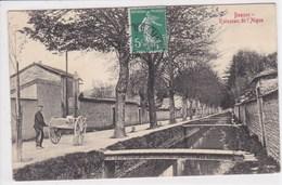 21 BEAUNE Ruisseau De L'Aigue ,homme Tirant Une Charette - Beaune