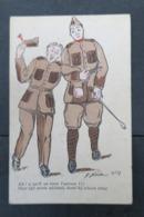 Armée Belge , Cpa Humo : DNoir N°13 / Ah ! S'qn'il En Tient L'ancien !! - Umoristiche
