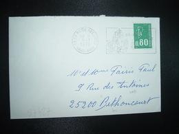 LETTRE TP M. DE BEQUET 0,80 Gravé De Carnet OBL.MEC.9-1 1978 68 STE MARIE AUX MINES HAUT-RHIN - 1971-76 Marianne (Béquet)