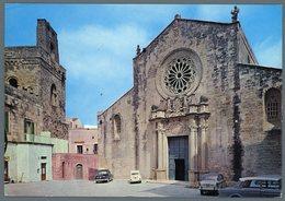 °°° Cartolina - Otranto Fronte Della Basilica Viaggiata °°° - Lecce