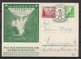 Deutsches Reich 1938 In Memoriam Hindenburg - Germania