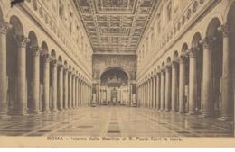 (565) AK Rom, Vatikan, Basilika St. Paul Vor Den Mauern, Inneres 1910 - Vatikanstadt