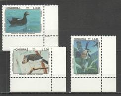 E421 1993 HONDURAS FAUNA BIRDS AMERICA UPAEP COLUMBUS SET MNH - Uccelli