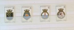 Gibraltar 1986 Naval Crests Set MNH - Gibraltar