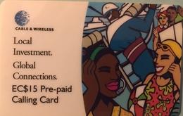 St. VINCENT § LES GRENADINES  -  Prepaid -  Cable %  Wireless  -  EC$15 - St. Vincent & The Grenadines