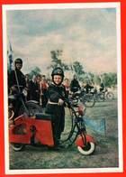Jeune Motocycliste Moto Garçon Enfant Enfants Compétition Sport Moto Photo De Course 1957 Tückel - Motorbikes