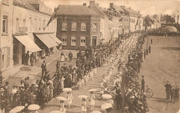 Trazegnies Inauguration De L'hôtel Communal Souvenir Des Fêtes 11 Mai 1913 ( Lot De 4 Cartes) - België