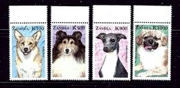 Zambia 804-07 MNH 1999 Dogs   #2 - Zambie (1965-...)