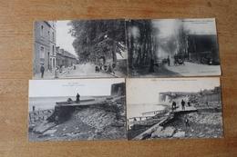 4 Cpa  Mers Les Bains  La Ferme De Froide Ville, Vues Animée, Digue Le 7 Mars 1914 - Mers Les Bains