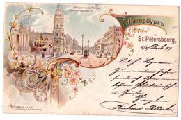 6880 - Russie - Saint-Pétersbourg - Perspective De Nevsky - R. Luttermann à St-Pg - - Russia