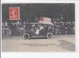 BESANCON : Les Fêtes En 1910 - Concours D'automobiles Fleuries (rare En Couleur) - Très Bon état - Besancon