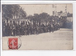 BESANCON : Carte Photo D'un Défilé Militaire En 1909 - Très Bon état - Besancon