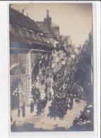 BESANCON : Carte Photo D'un Défilé Militaire  - Très Bon état - Besancon