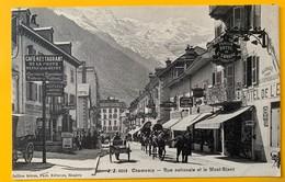 9999 -  Chamonix Rue Nationale Et Le Mont-Blanc Belle Animation - Chamonix-Mont-Blanc